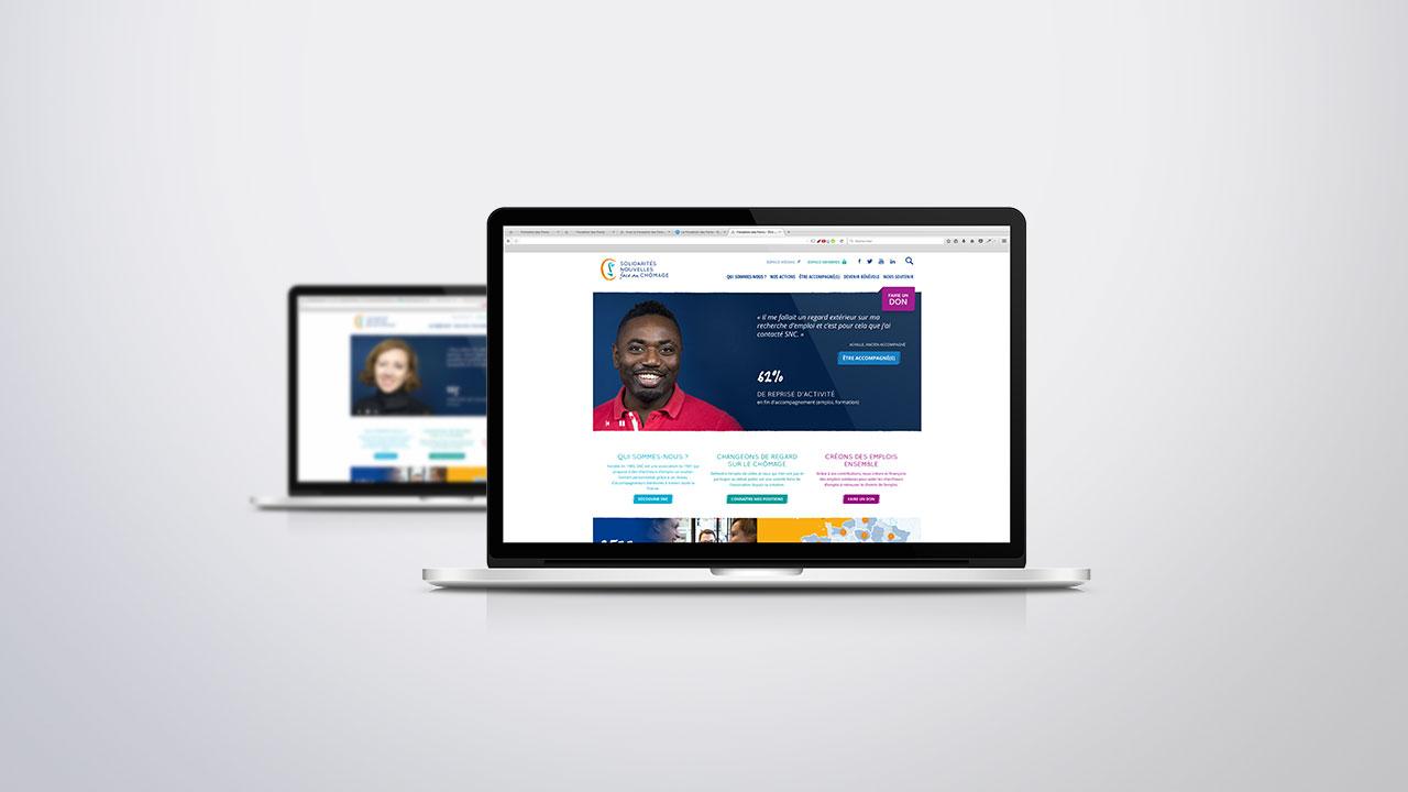 Page d'accueil du site SNC
