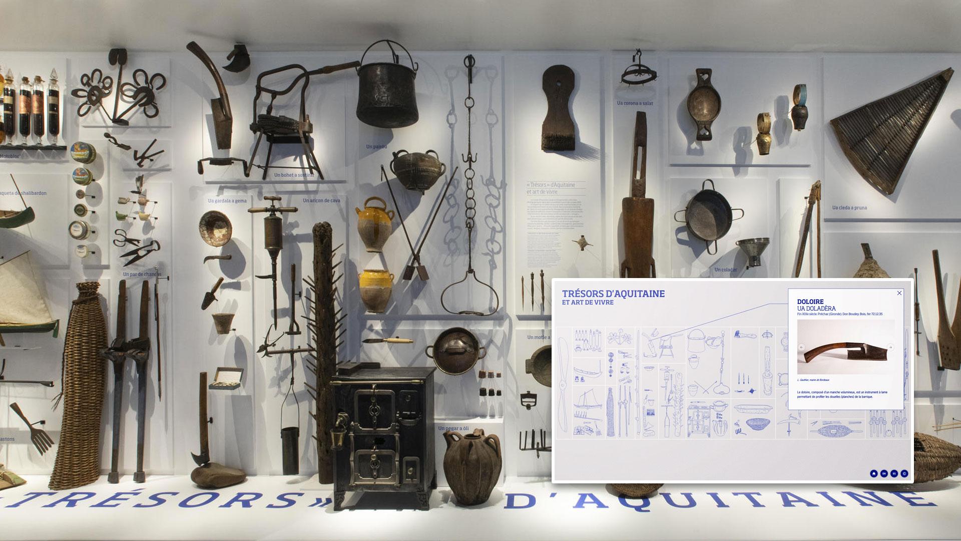 Borne interactive - Cartel du mur d'objet