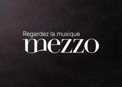 Design Web du site de la chaine TV Mezzo