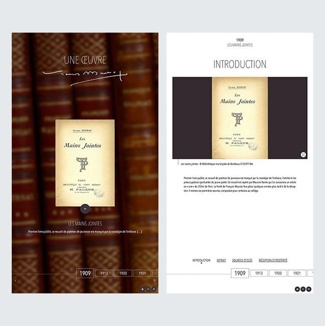 Borne Interactive - Présentation des oeuvres de F. Mauriac
