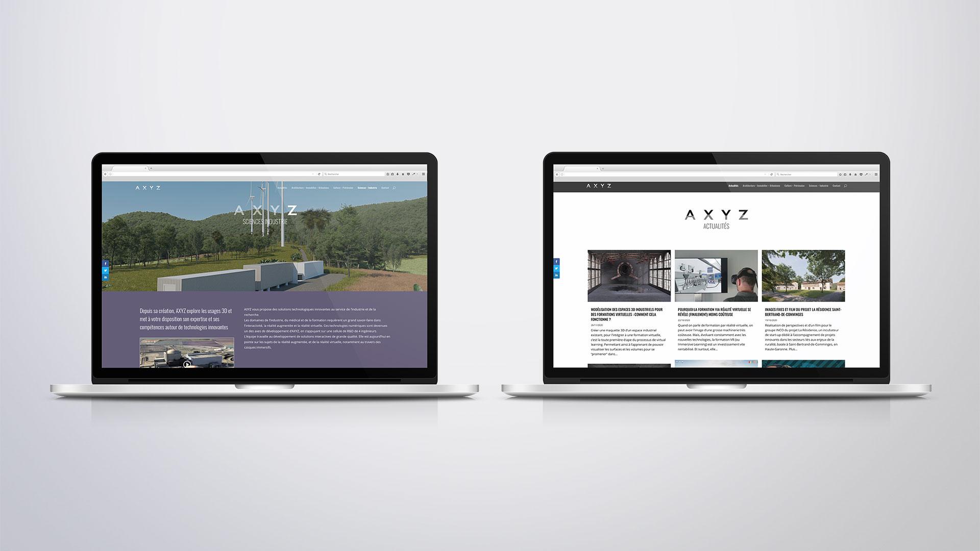 Site Internet - Pages Sciences et Industrie