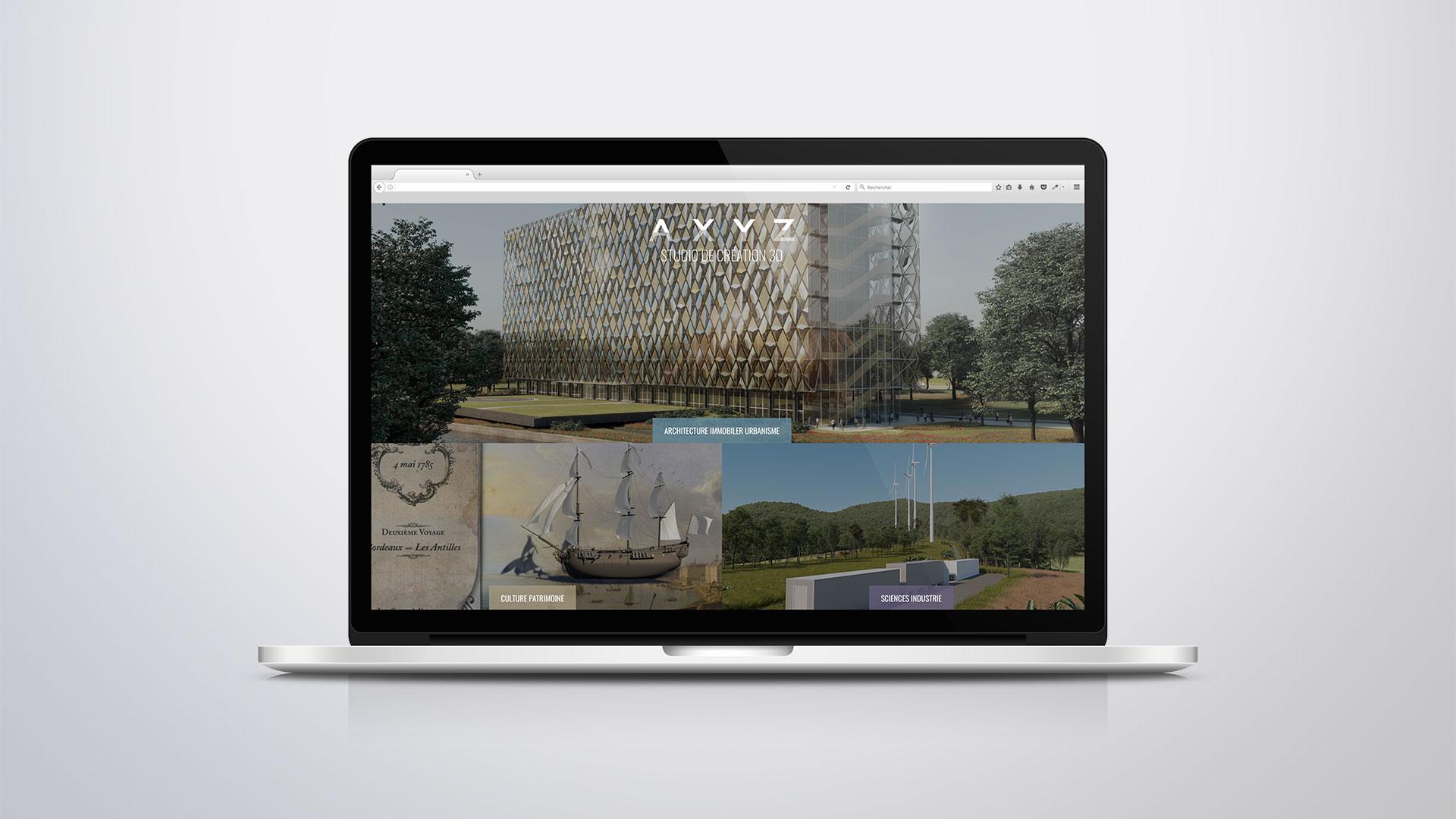 Site Internet AXYZ Accueil